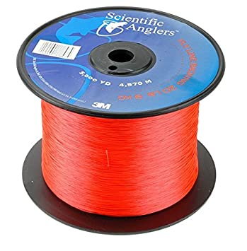 SA Fly Line Backing, DACRON, 30 lb Test, ORANGE – 100, 150, 200, 250, 300, 400, 600 up to 5000 yds
