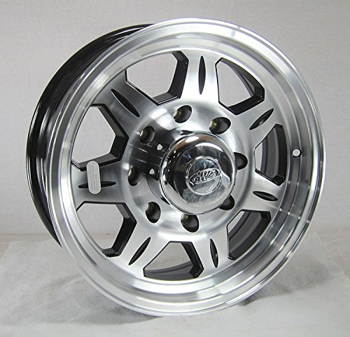 (16 x 6 HD SAWTOOTH 870 Aluminum Trailer Wheel 8 Lug with Center Cap)