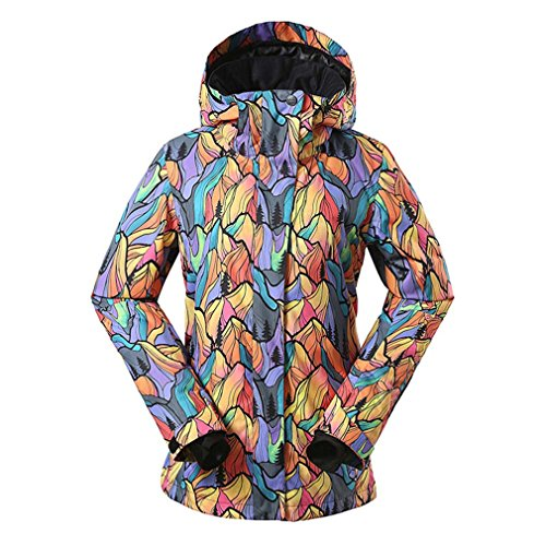 Faisspos Windproof colorful Print Women's Sports Outdoor Ski Jacket 1 M by Faisspos (Image #1)