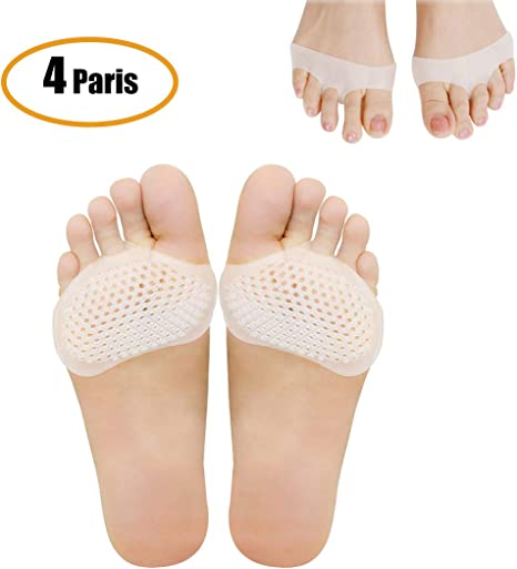 1Pair Gel Metatarsal Pads Ball of Foot Cushion Forefoot Pain Relief Pad Hot BS