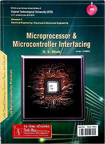microcontroller and microprocessor books as per gtu syllabus