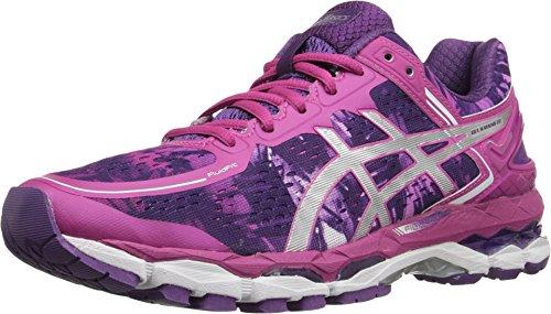 ASICS Women's Gel Kayano 22 Running Shoe, Purple/Silver/Pink Glow, 12.5 M US
