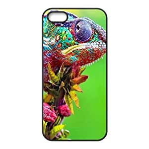 Hot For SamSung Galaxy S5 Phone Case Cover Colorful Chameleon Close Up Hard Shell Back Black For SamSung Galaxy S5 Phone Case Cover 326065 3637842M197346564