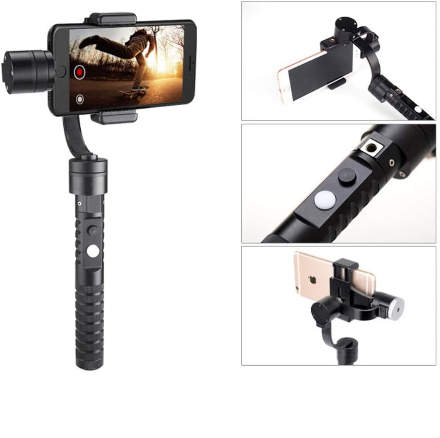 Black HUAXING 3-Axis Handheld Gimbal Stabilizer for Pus Focus Pull /& Zoom Capability,Phone go Mode for Instant Scene Transition