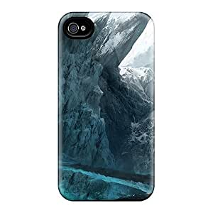 New Style Luoxunmobile333 Hard For Case Ipod Touch 4 Cover - Digital Art Mountains