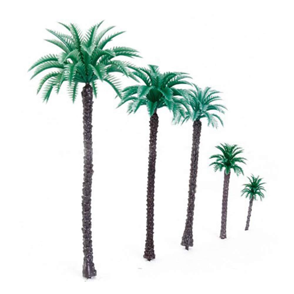 14 PCS 6.6 Inch Model Coconut Palm Trees Scenery Model Tree for Model Train Railway Architecture 1:50 mi ji
