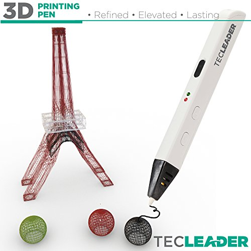 TECLEADER | 3D Printing Pen for Kids & Adults | Perfect Educational Toy for 3D Modeling, Printing and Doodling | Free Stencil EBook, 3 ABS Filaments & User Manual | Best Birthday Gift | Slim Design by TECLEADER (Image #5)
