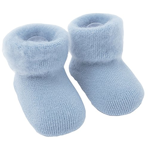 Everstars for baby socks [High-end Soft Material][Delicate Workmanship][Sweat Update][Soft Cotton Fabric] [Fun & Cute] Antibacterial Deodorant socks for babies (blue, 0~6 month)]()