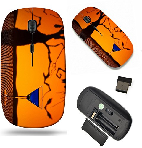 MSD Wireless Mouse Travel 2.4G Wireless Mice with USB Receiver, Noiseless and Silent Click with 1000 DPI for notebook, pc, laptop, computer, mac book design: 20352148 Cobalt Martini in Halloween -