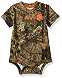 Carhartt Baby Boys Short Sleeve Bodysuit, Camo (Mossy Oak), 12M