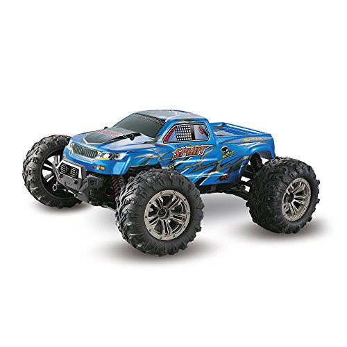 1:16 4 WD RC Car 36km/h High Speed Car - 2.4G Waterproof Shockproof Radio Conrtolled Off-Road - 9130 Off-Road RC Car, for Children Best RC Car Gift ( Blue) by Hisoul (Image #2)