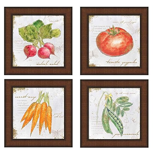Metaverse Emily Adams 'Garden Treasures' 8-inch Square Framed Art (Set of (Metaverse Framed Art)