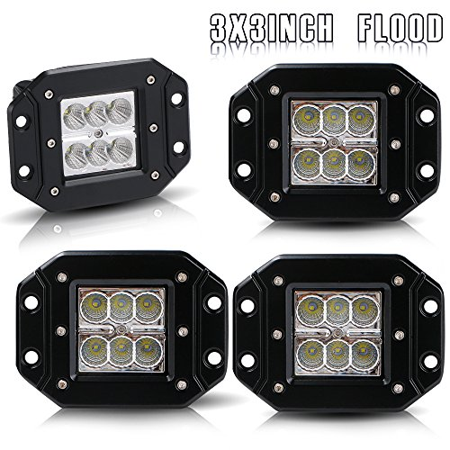 Ford Tractor Trailer (Bumper Grill Offroad Work Lights Flood 3X3 4.5In Flush Mount Pods Cube Reverse Backup Headlight Lower Auxiliary Driving Fog Lights Ford Ranger F250 F350 Truck Jeep Wrangler Truck Silverado Atv 12V)