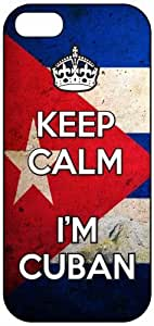 Keep Calm I'm Cuban, Cuba Flag 1039, iPhone 4/4S Premium Hard Plastic Case, Cover, Aluminium Layer, Quote, Quotes, Motivational, Inspirational, Theme Shell by icecream design