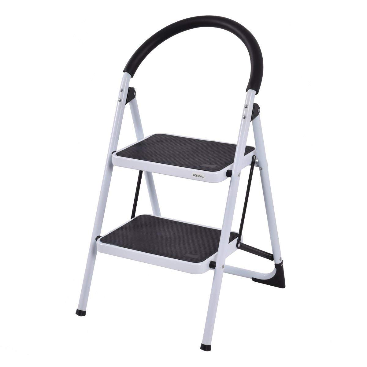 COSTWAY VD 32763TL 2 Step Ladder Black White