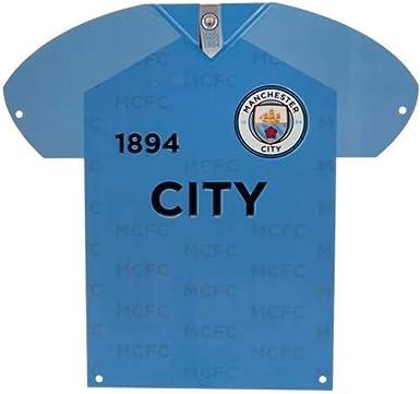 Manchester City F.C. - Placa de Metal para Puerta de Camisa ...