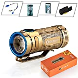 Bundle: Olight S MINI Cree XM-L2 Cool White 550 lumens copper Flashlight Side-Switch EDC Flashlight Limited Version Smini with UC charger and 16340 Rechargeable battery (S mini CU (ROSE GOLD))