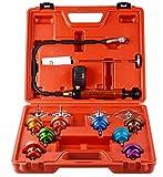 YOLO Stores - 14pcs Radiator Cooling System Pressure Tester Head Gasket Water Tank Leak Adapter Universal Kit