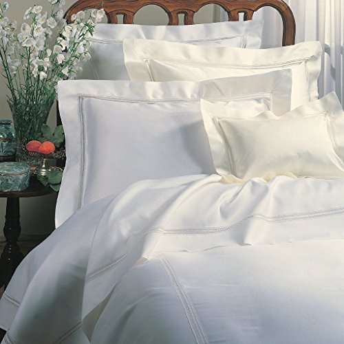 Sferra Diamante King Flat Sheet 114x114 (Ivory)