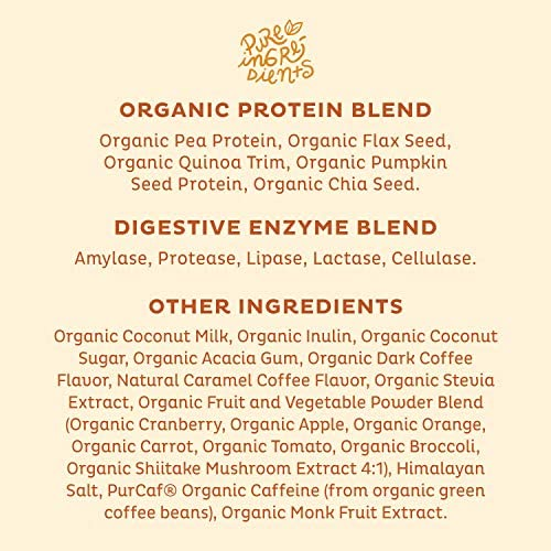 KOS Organic Plant Based Protein Powder, Salted Caramel Coffee - Delicious Vegan Protein Powder - Gluten Free, Dairy Free & Soy Free - 1.2 Pounds, 15 Servings 5