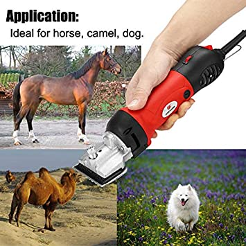Mettime Horse Trimmers Heavy Duty Horse Clipper Professional Equine Trimmer Fast Cut Ideal for Cobs Trimmer Combo Extremely Powerful Grooming Clippers For Body Clipping and Dense Coats