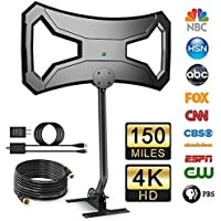 Outdoor Amplified HD Digital TV Antenna with Pole Mount, UniTek Omni-Directional HDTV Antenna with 30FT RG-6 Cooper Cable 4K Ultra HD Free Channels for VHF/UHF