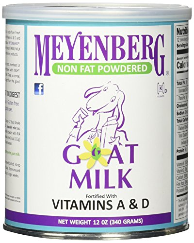 Meyenberg Nonfat Powdered Goat Milk, Vitamins A & D, 12 Ounce