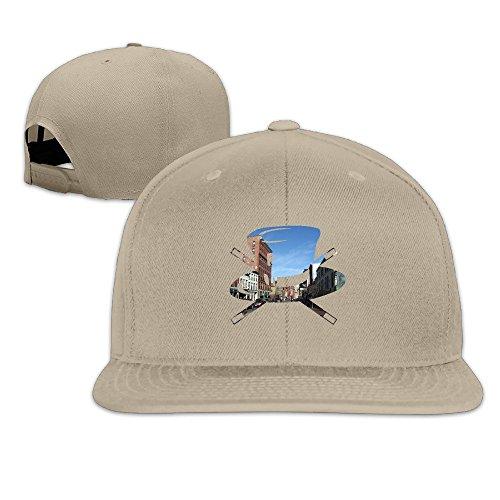 LZXJU The Funny Hat With Congress Street In Portland Men's Flat Baseball Cap Natural (Wigs Minneapolis)