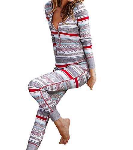 Victoria's Secret, Women's Gray Long Jane Thermal Fireside Sleepwear Pajama Small by Victoria's Secret,