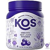 KOS Organic Açaí Juice Powder | Natural Antioxidant Superfood Açaí Juice Powder | Polyphenol Abundant, Anti-Aging, USDA Organic, Non-GMO Plant Based Ingredient, 360g, 120 Serving