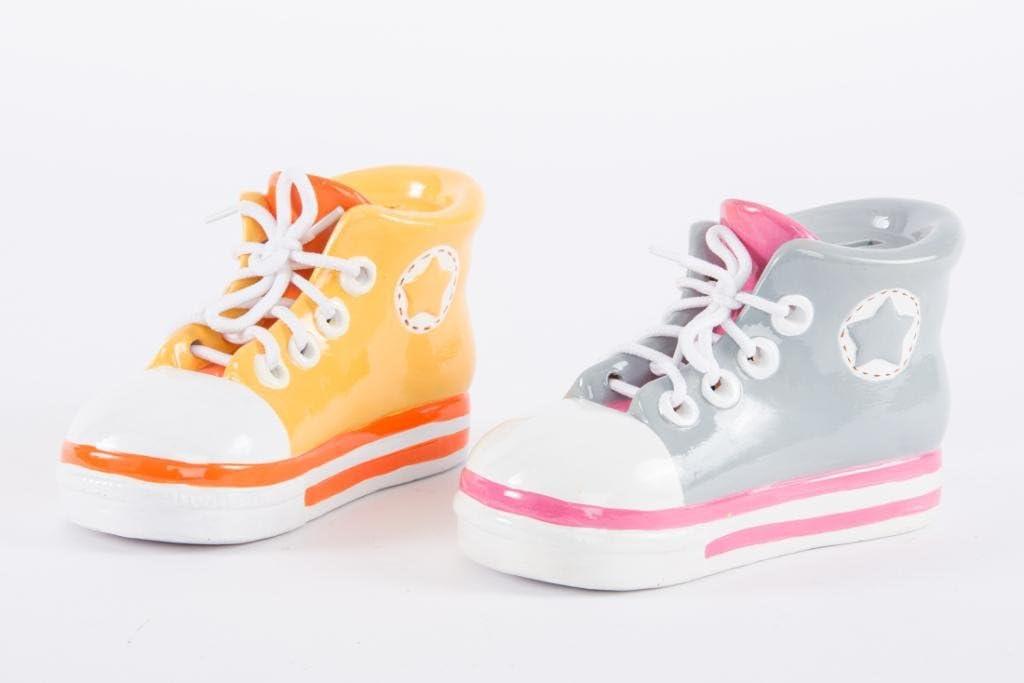 c/éramique Jaune AVENUELAFAYETTE Tirelire Enfant Basket Chaussure