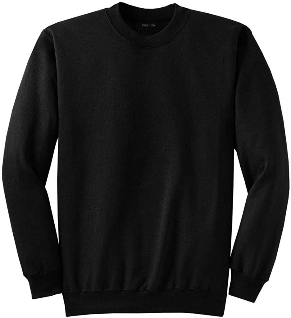 Mens TALL Ultimate Crewneck Sweatshirt-Black-3XLT Joes USA