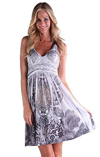 Ingear Studded Empire Halter Dress (Large, - Cut Halter Empire