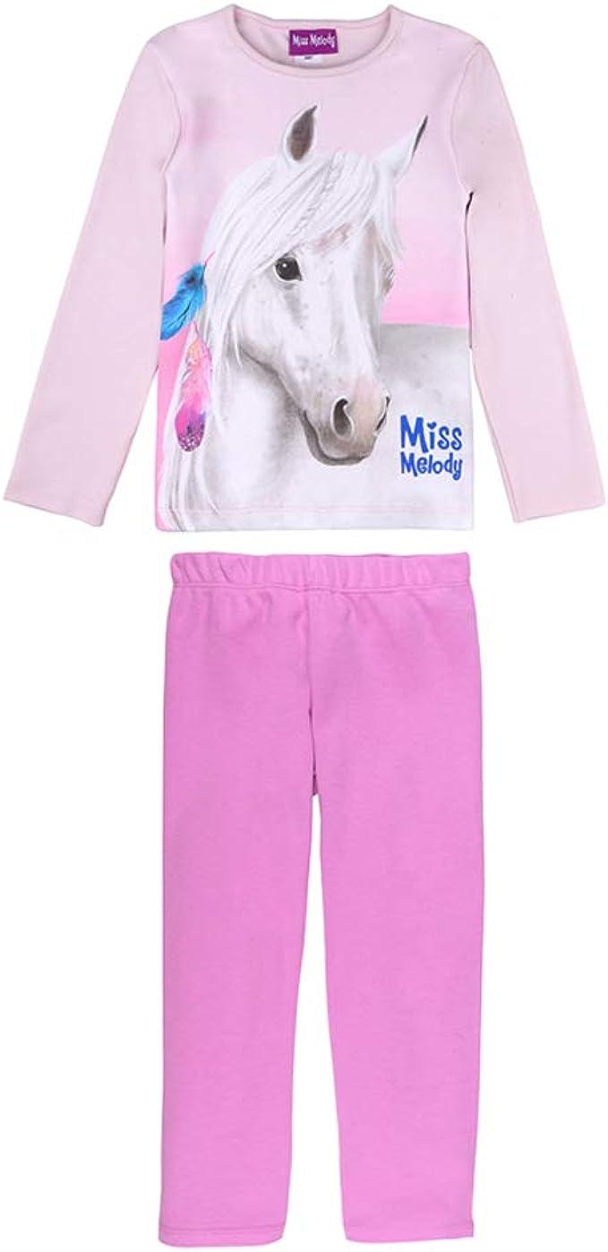 Indumenti da Notte Miss Melody Ragazza Pigiama Set: T-Shirt e Shorts Rosa