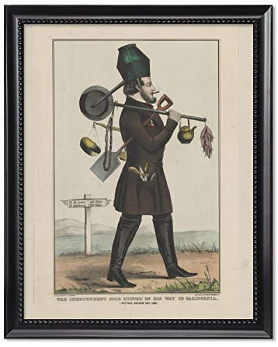 (ClassicPix Framed Print 11x14: The Independent Gold Hunter On His Way to California: I Neither.)