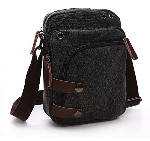 (Collsants Small Vintage Canvas Travel Purse Mini Shoulder Bags Messenger Crossbody Handbag)