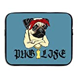 Computer Bag Laptop Case Slim Sleeve Pug Life Swag Hip Hop Waterproof 13-15In IPad Macbook