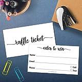 Raffle Tickets, White