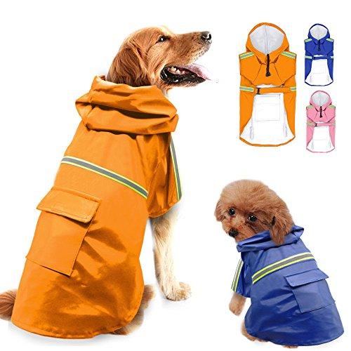 Safety Rainwear - Dog Raincoat Reflective Rainwear Safety Clothes for Medium Doggy