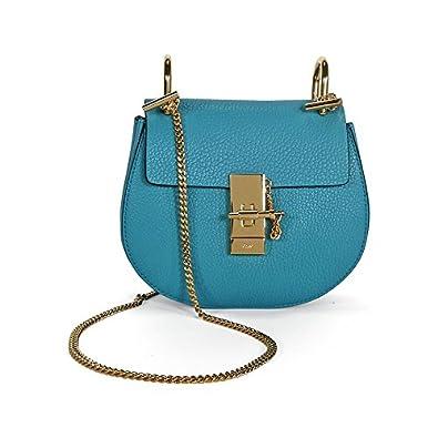 4e28fd851 Chloe Drew Mini Calfskin Leather Shoulder Bag - Washed Blue: Handbags:  Amazon.com