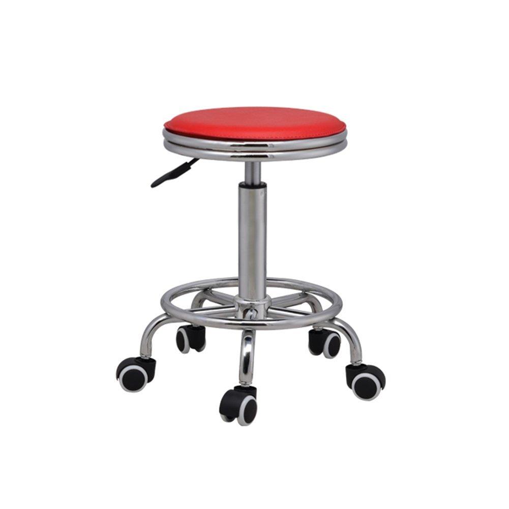 DALL カウンターチェア FL-89オフィススツール 高い足 スツール バースツール 朝食バー スツール 組み立てることができます 回転可能な L ドロップ 44-58cm (色 : 青) B07DHD47S8 青 青