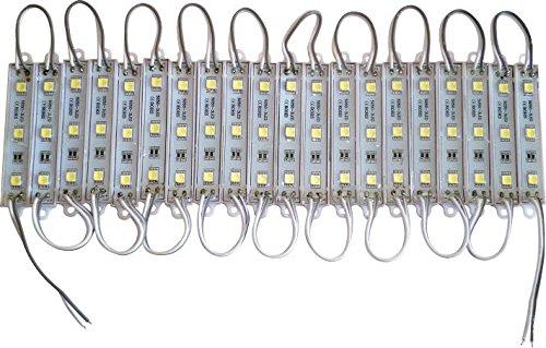 Módulo 03 Leds 5050 Branco Frio Kit com 20 unidades