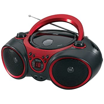 Jensen Cd-490 Sport Stereo Cd Player With Amfm Radio & Aux Line-in, Red & Black 4