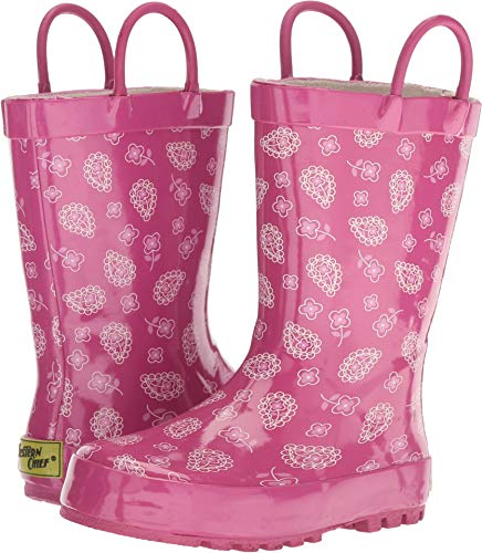 Western Chief Boys Kid's Waterproof Printed Rain Boot, Vintage Paisley, 7/8 M US Toddler