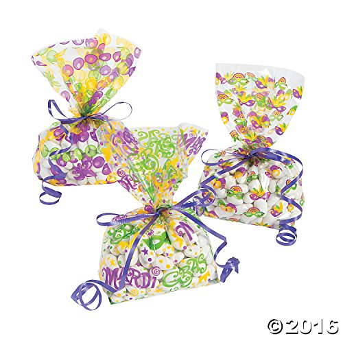 Mardi Gras Cellophane Bags (Mardi Gras Treats)