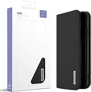 حافظة حماية متعددة الوظائف لهاتف ايفون 11 برو من الجلد الطبيعي مقاس 6.5 انش بتصميم محفظة مضادة للسقوط والصدمات، مع غطاء مطابق للهاتف