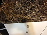 "EzFaux Decor Countertop Paint? No! Peel and Stick Granite NO PAINT Counter Top Film Transformation. 36"" W x 72"""