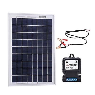 Komaes 10 Watts 12 Volts Polycrystalline Solar panel Kit