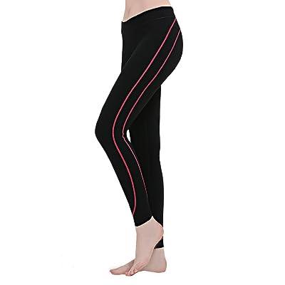 Bonway Women's Yoga Capri Leggings Tummy Control Non See-Through Fabric