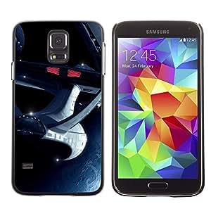 TopCaseStore / la caja del caucho duro de la cubierta de protección de la piel - Space Ship Travel Alien Future Movie Universe - Samsung Galaxy S5 SM-G900